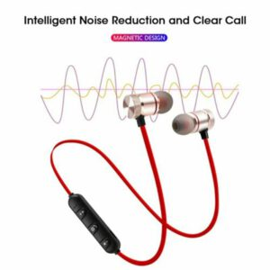 Headphones Bluetooth Wireless Earphones Necklace Sport Gym Soft Bluetooth Earbuds MIC Stereo Bass For Mobile Phone