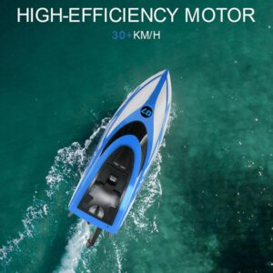 High Speed RC Boat 2.4GHZ 2CH High Speed Radio Remote 30km/h Toys Racing Toys RC Electric For Childern Boat Racing Control A6T5