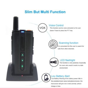 Two way inter-phone Fashion walkie talkie ANYSECU M3 UHF 400-520MHz Touch function Wireless mobile intercom analogue Super Thin