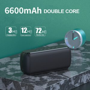 60W Wireless Waterproof Bluetooth Speaker DSP Bass column Portable Outdoor Speaker TWS Subwoofer Soundbar Support TF Card AUX