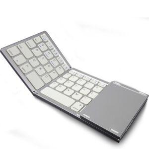 Twice folding wireless Bluetooth Keyboard For Huawei MediaPad M2 10 m2 8 M2 8.0 7 7.0 10.1 Pro Tablets PC foldable keyboard case