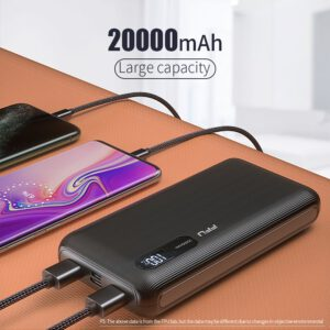 FPU Power Bank 20000mah Portable Charging Charger Powerbank 20000 mah Mobile Phone External Battery Pack Poverbank For Xiaomi mi