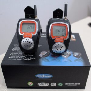 freetalker 22 channel watch walkie talkie pair 2-way radio watches phone frs/gmrs radios up to 3km w/ 121 private code