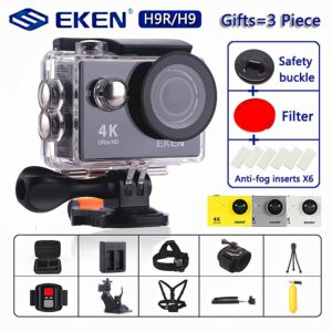 "Original EKEN H9 / H9R Action Camera Ultra HD 4K / 30fps WiFi 2.0"" 170D Underwater Waterproof Cam Helmet Vedio go Sport pro Came"