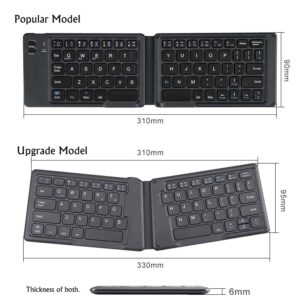 B O W HB022S Portable Foldable Universal Bluetooth Wireless Keyboard, Ergonomic Mini Keyboard For Ipad Android Mobile Phone.