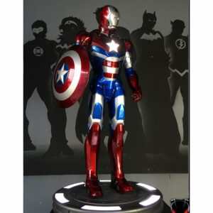 COOL! 98cm high large 1/2 iron man model Patriot full body with Shield statue model Patriot brand new upgrade statue Resin BUST
