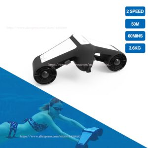 Electric Underwater Scooter Sea Sport Trident Water Two Speed Waterproof Propeller Diving Pool Scooter Water Sports Equipment