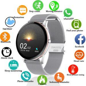 LIGE 2020 New Color All Screen Smart Watch Women men Multifunctional Sport Heart Rate Blood Pressure IP67 Waterproof Smartwatch