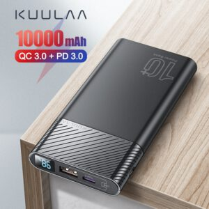 KUULAA Power Bank 10000mAh QC PD 3.0 PowerBank Fast Charging portable charger Poverbank For xiaomi mi 9 8 iPhone 11 X pawer bank