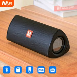 Wireless Bluetooth Speaker Outdoor Portable Soundbar Subwoofer AUX TF Card USB Pendriver FM Speakers Home Hand-free Rechargeable