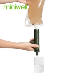miniwell outdoor sports gear survival straw water filter travel kits