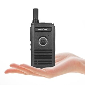 Ultra Slim Walkie Talkie UHF Rechargeable Mini Smart Two-Way Radios Fashion Portable 2 Way Radio with Dual PTT & Breathing Light