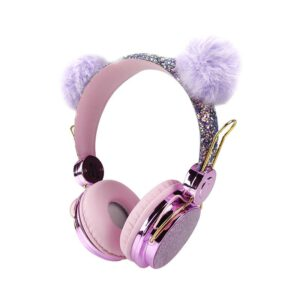 3.5 mm Cute Headphones - Over Ear Wired Girls Kids 1.2m Length Cable 85dB Volume Wired Noise Canceling Headphone