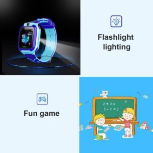 Waterproof Q12B Smart Watch Multifunction Children Digital Wristwatch Baby Watch Phone For IOS Android Kids Toy Gift