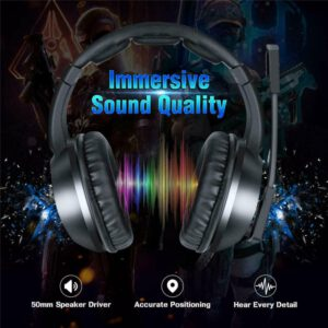 2020 3.5mm Gaming Stereo Headset Wireless Headphone With Adjustable Mic Noise Canceling Comfortable LED Lights Earphones