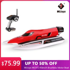 WLtoys WL915 45km/h RC Boat 2.4Ghz Radio-Controlled Boat Brushless Motor High-Speed RC Racing Boats Summer Outdoor Water RC Toys