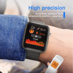 T68 Smart Watch with Body Temperature Measure Heart Rate Blood Pressure Oxygen Monitoring Smart Wristband Sport Fitness Watches